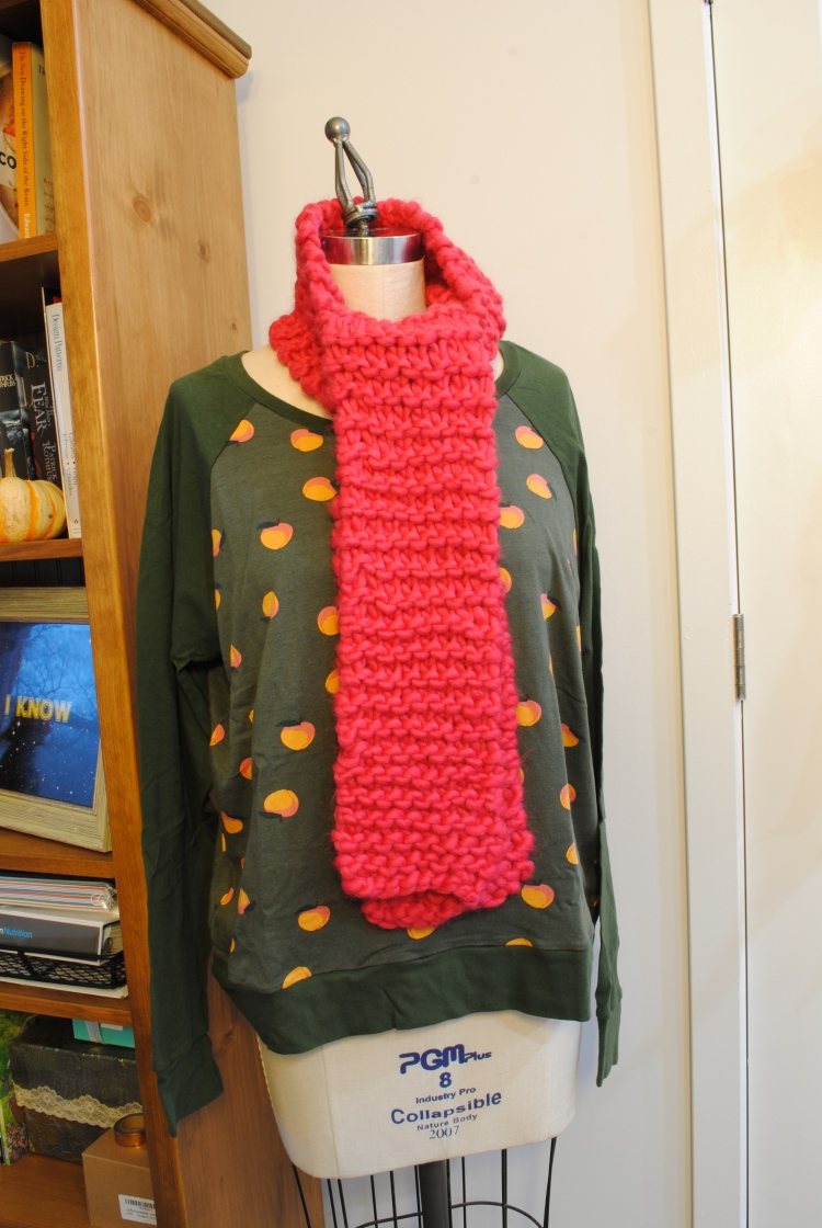 Peach Linden and Scarf 1